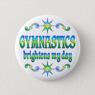 Gymnastics Brightens 2 Inch Round Button