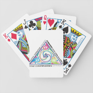 Gymnastics Celtic Triangle Poker Deck
