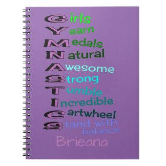 Gymnastics (change name) notebook