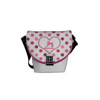 Gymnastics Cherry Polka-Dots Commuter Bags