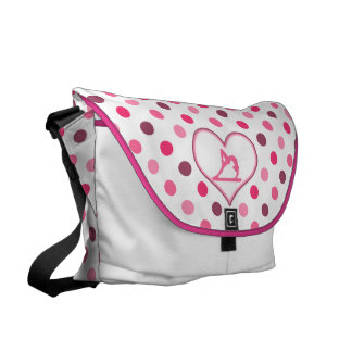 Gymnastics Cherry Polka-Dots Messenger Bag