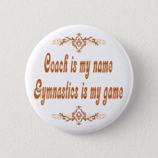 Gymnastics Coach 2 Inch Round Button