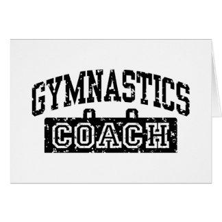 Gymnastics Coach Card