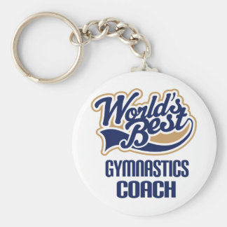 Gymnastics Coach Gift Basic Round Button Keychain