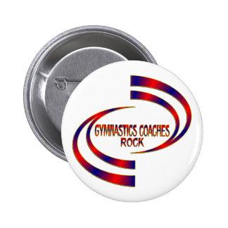 Gymnastics Coaches Rock 2 Inch Round Button