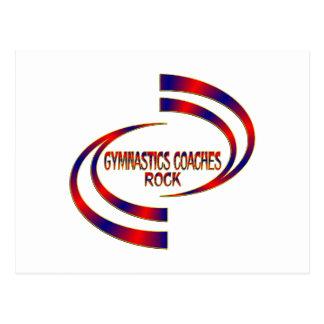 Gymnastics Coaches Rock Postcard