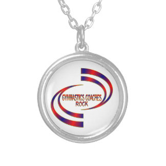 Gymnastics Coaches Rock Silver Plated Necklace