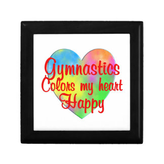 Gymnastics Colors My Heart Happy Trinket Box