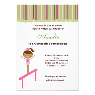 Gymnastics Competition Personalized Announcements