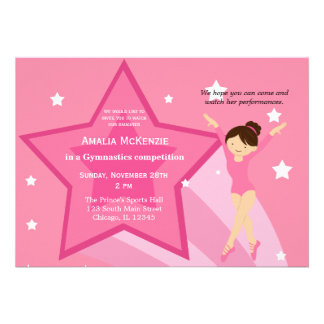 Gymnastics Competition Custom Invitations