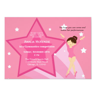 Gymnastics Competition Custom Invitations