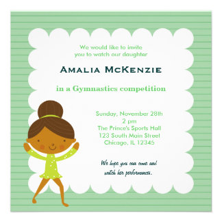 Gymnastics Competition Personalized Invites