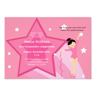 Gymnastics Competition Custom Invite