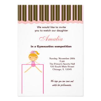 Gymnastics Competition Personalized Invite