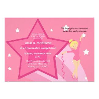 Gymnastics Competition Custom Invitation