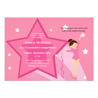 Gymnastics Competition Invitations