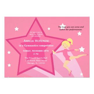 Gymnastics Competition Personalized Invites