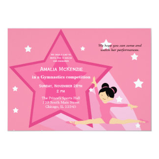 Gymnastics Competition Custom Invitation
