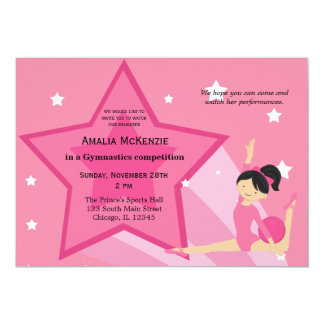 Gymnastics Competition Invitations