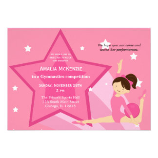 Gymnastics Competition Custom Invite