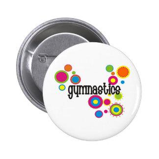 Gymnastics Cool Polka Dots 2 Inch Round Button