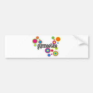 Gymnastics Cool Polka Dots Bumper Sticker