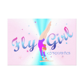Gymnastics - Fly Girl Canvas Print