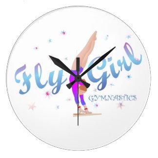 Gymnastics - Fly Girl Clock