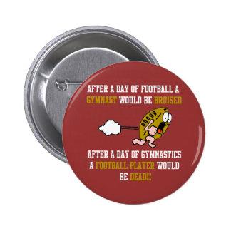 Gymnastics Football Pinback Button