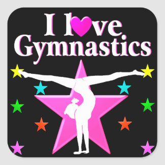 GYMNASTICS FOREVER SQUARE STICKER