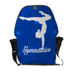 Gymnastics Girl Blue Stars Commuter Bag