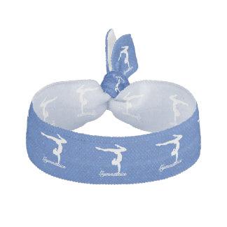 Gymnastics Girl Blue Stars Hair Tie