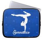 Gymnastics Girl Blue Stars Laptop Sleeve