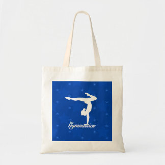 Gymnastics Girl Blue Stars Tote Bag