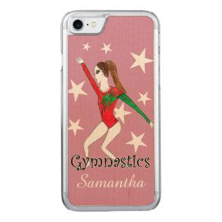 Gymnastics girl carved iPhone 7 case