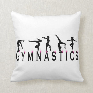 Gymnastics Girls Throw Pillow