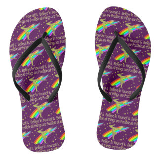 GYMNASTICS GOALS AND DREAMS DESIGN FLIP FLOPS