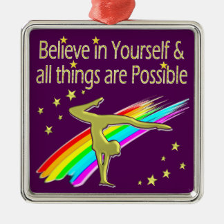 GYMNASTICS GOALS AND DREAMS DESIGN METAL ORNAMENT