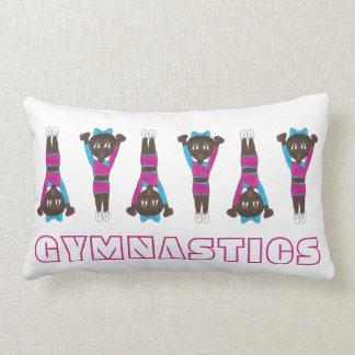 Gymnastics Gymnast Decor Gym Coach Tumbling Pink Lumbar Pillow