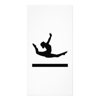 Gymnastics gymnast photo greeting card
