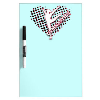 Gymnastics Halftone Heart Red blue Personalized Dry Erase Board