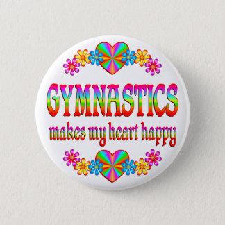 Gymnastics Heart Happy 2 Inch Round Button