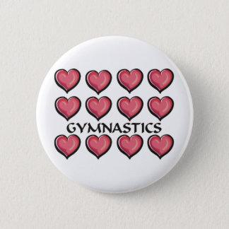 Gymnastics Heart Series 2 Inch Round Button