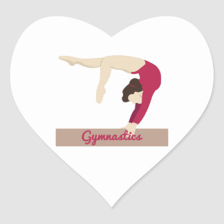 Gymnastics Heart Sticker