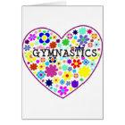 Gymnastics Heart with Flowers Card