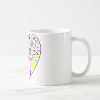 Gymnastics Heart with Flowers Coffee Mug