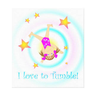 Gymnastics - I Love to Tumble Wall Art