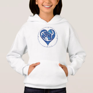Gymnastics Is In My Heart Girls Hooded Sweatshirt