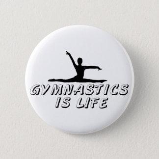 Gymnastics is Life 2 Inch Round Button