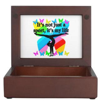 GYMNASTICS IS MY LIFE RAINBOW DESIGN MEMORY BOXES